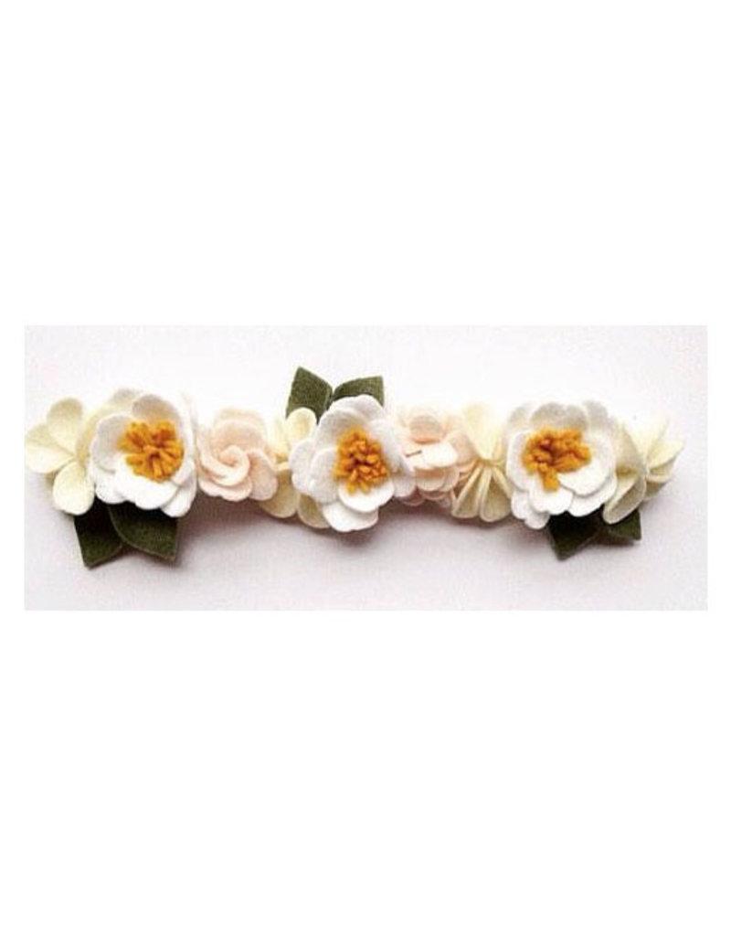 peony felt flower crown