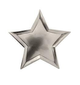 meri meri star silver foil plates