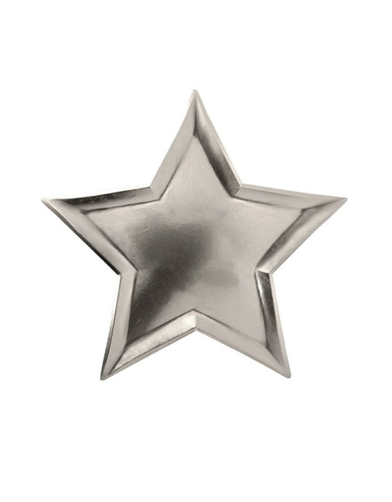 meri meri star silver foil plates FINAL SALE