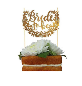 bride to be paper cake topper