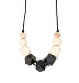Bella Tunno smoky black teething necklace