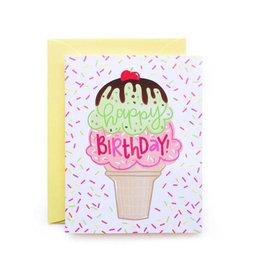 birthday ice cream printed card