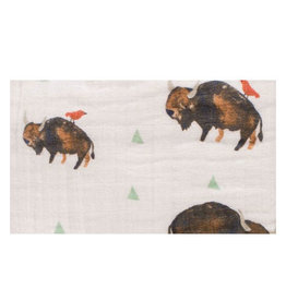 cotton percale crib skirt - bison FINAL SALE