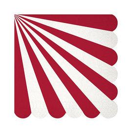 meri meri red stripe large napkins
