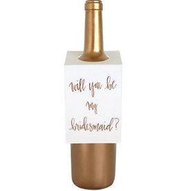chez gagne bridesmaid wine tag FINAL SALE