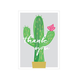 cactus flower thank you card