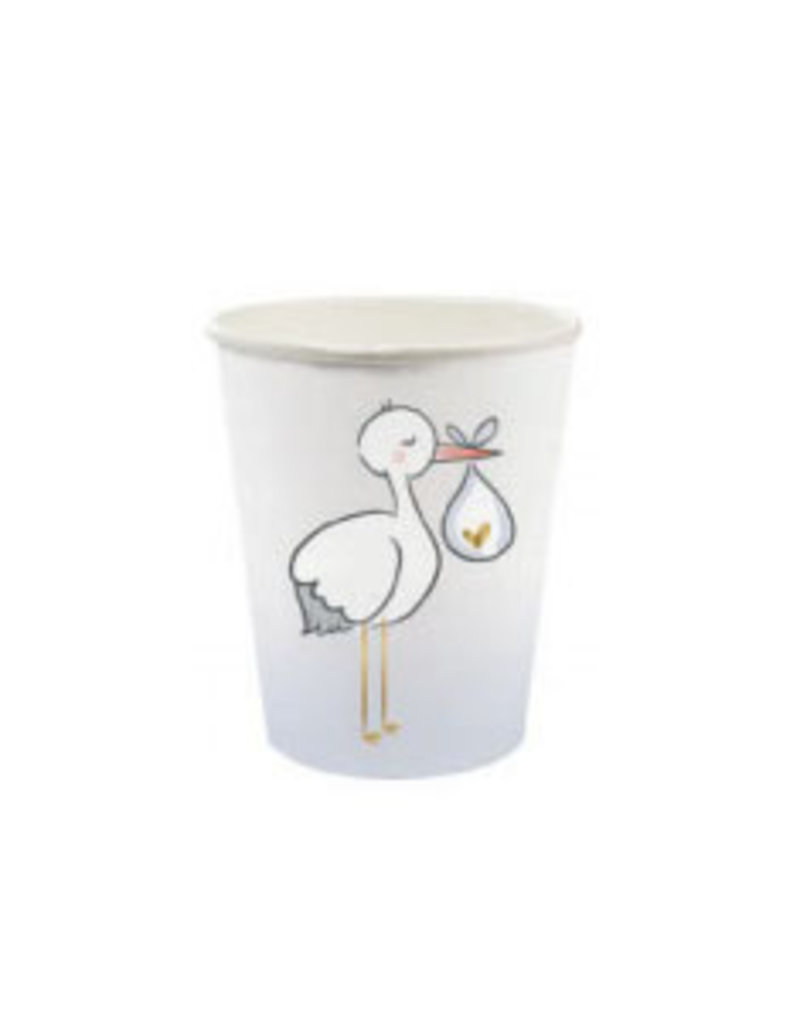 slant 8oz stork paper cups 8ct