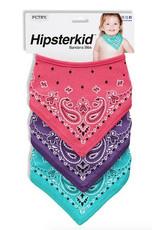 Bandana Bibs - Pink, Purple & Mint FINAL SALE