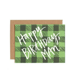 birthday plaid card
