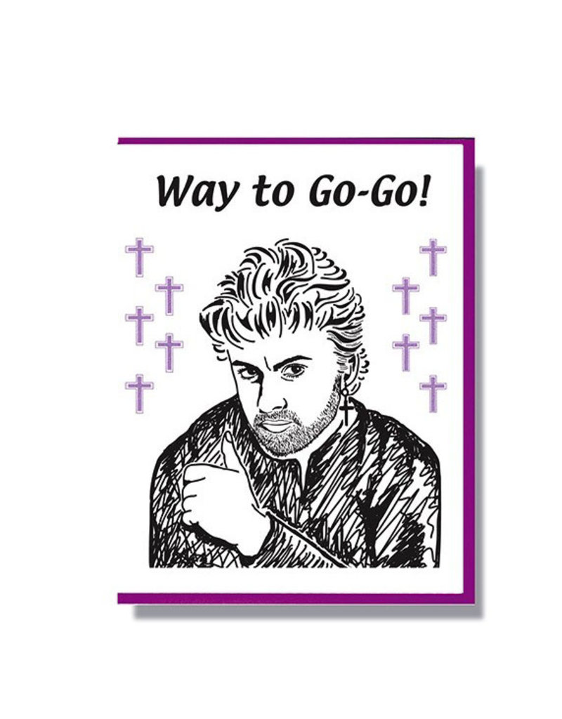george michael greeting card