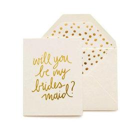 playful bridesmaid card