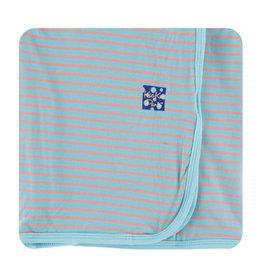 kickee pants strawberry stripe print ruffle toddler blanket