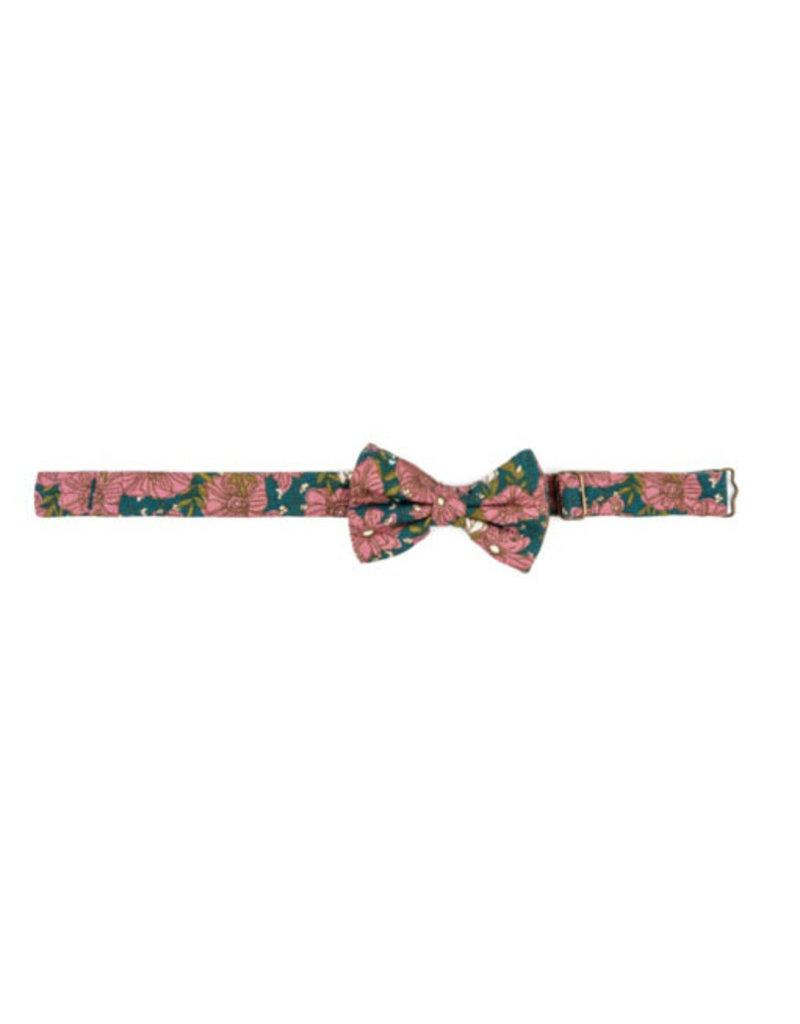milkbarn teal floral bow tie final sale