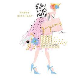 Calypso shopping bags birthday card