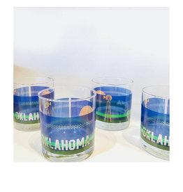 oklahoma rocks glass - set of 4