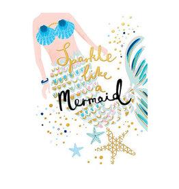 Calypso mermaid card