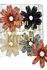 8 pack mini hair coils brunette