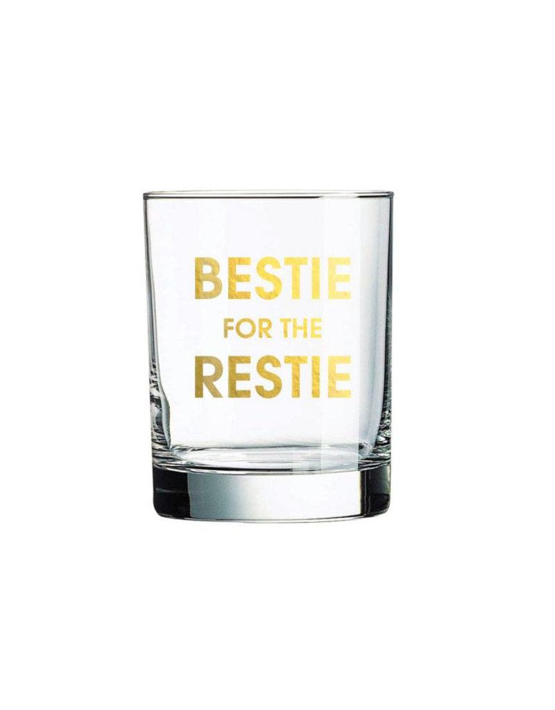 chez gagne bestie for the restie rocks glass