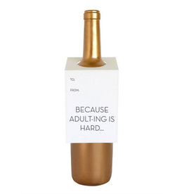 chez gagne adulting is hard wine & spirit tag