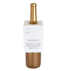 chez gagne life lesson #41 wine & spirit tag