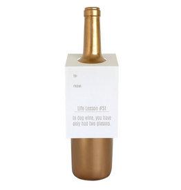 chez gagne life lesson #51 wine & spirit tag FINAL SALE