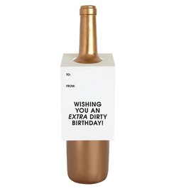 chez gagne extra dirty wine & spirit tag