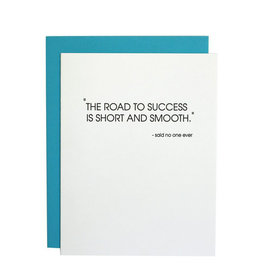chez gagne road to success letterpress card
