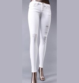 flying monkey white distressed skinny jeans