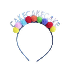 packed party cake headband