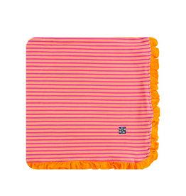 kickee pants flamingo brazil stripe ruffle toddler blanket