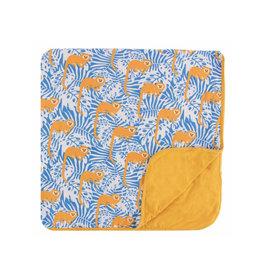kickee pants tamarin monkey toddler blanket