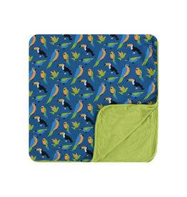 kickee pants twilight tropical birds toddler blanket
