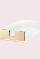 kate spade gold acrylic letter tray FINAL SALE