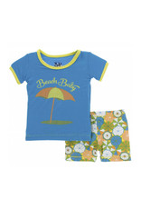 kickee pants beach umbrellas short sleeve pajama set with shorts