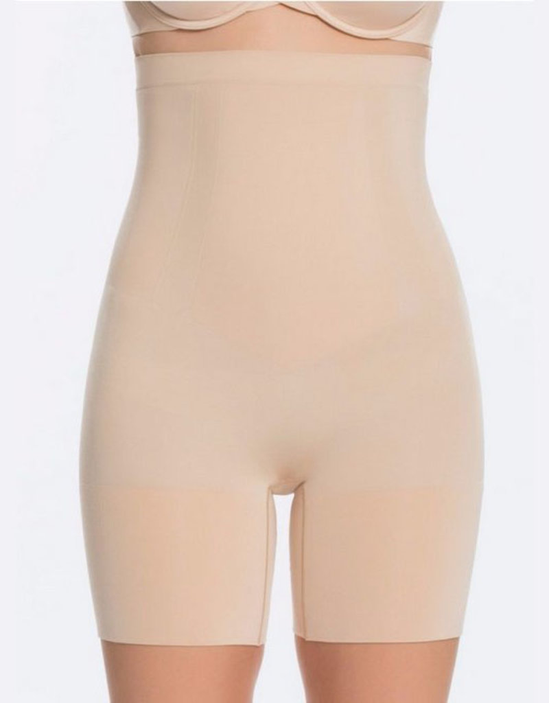 spanx oncore high waisted mid thigh short
