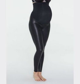 spanx mama faux leather legging