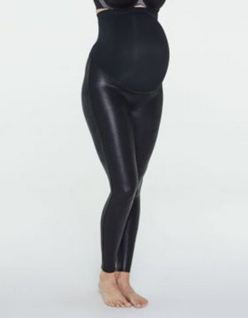 spanx mama faux leather legging