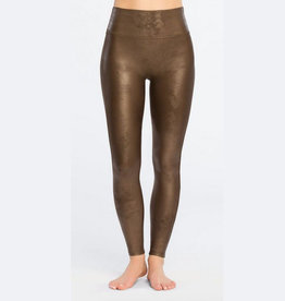 spanx bronze faux leather legging