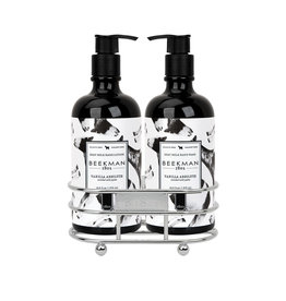 beekman vanilla absolute soap + lotion caddy set