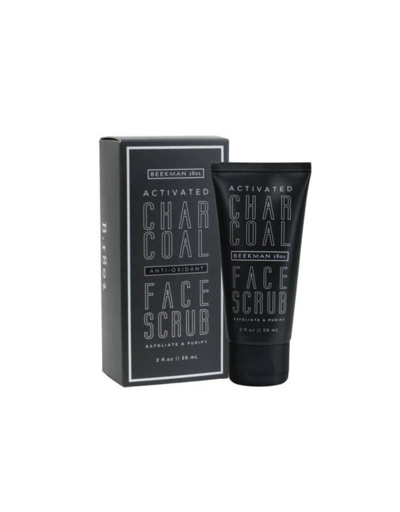 beekman 2oz activated charcoal face scrub