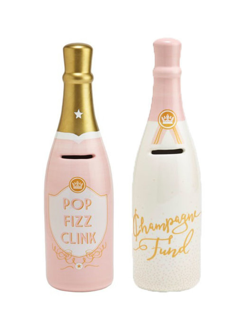 two's company champagne bottle bank