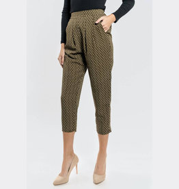 olive printed trousers FINAL SALE