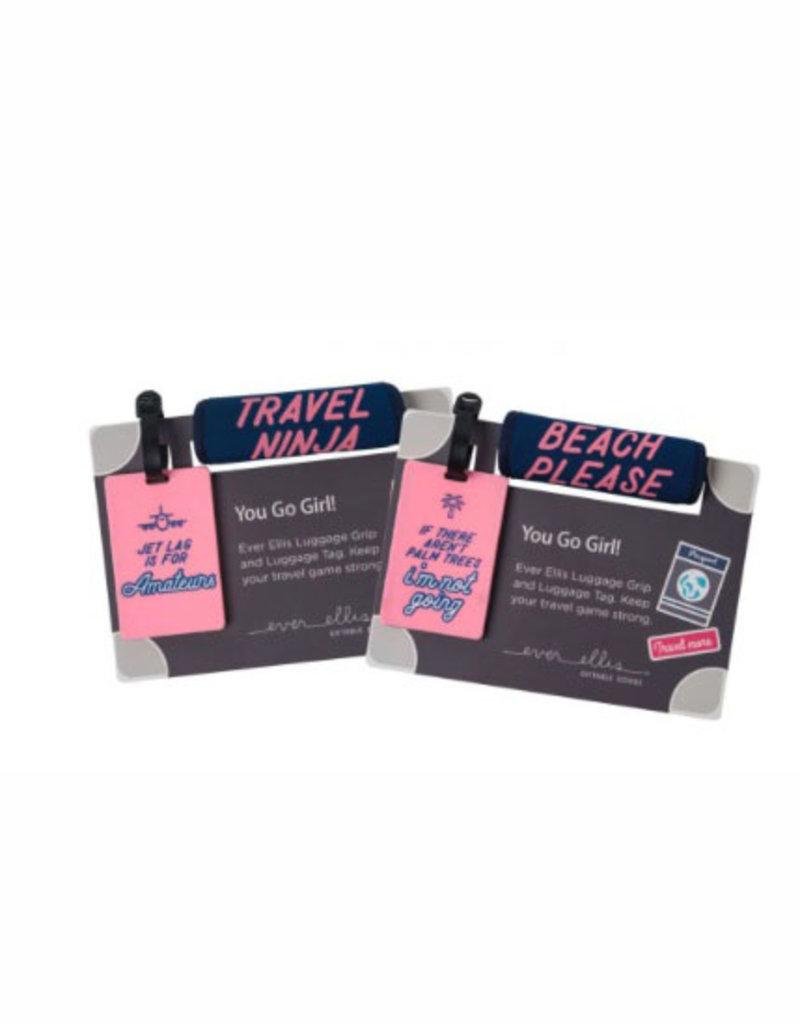 luggage tag + grip