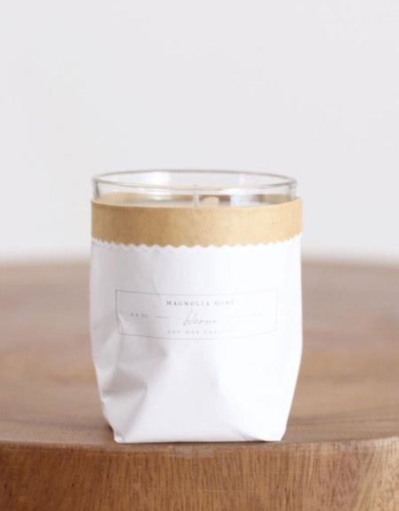 magnolia home bagged glass candle
