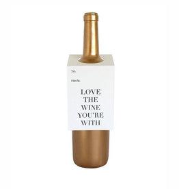 chez gagne love the wine spirits & wine tag FINAL SALE