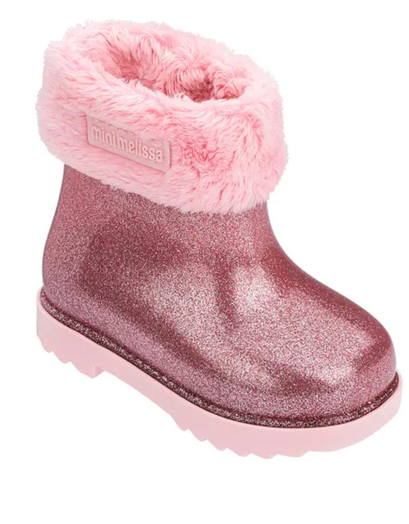 mini melissa winter glitter boot