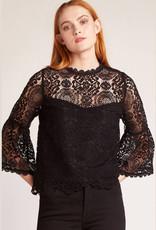 amazing lace black top FINAL SALE
