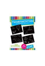 imagination starters- chalkboard transportation travel 4ct