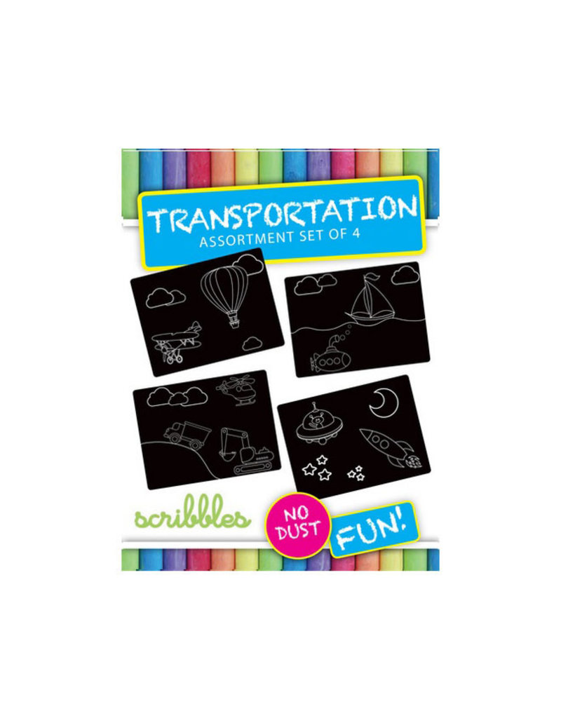 imagination starters imagination starters- chalkboard transportation travel 4ct