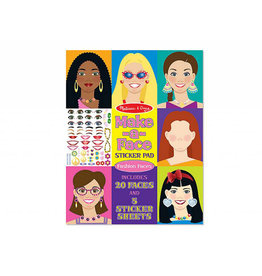 melissa and doug make a face fashion faces sticker pad